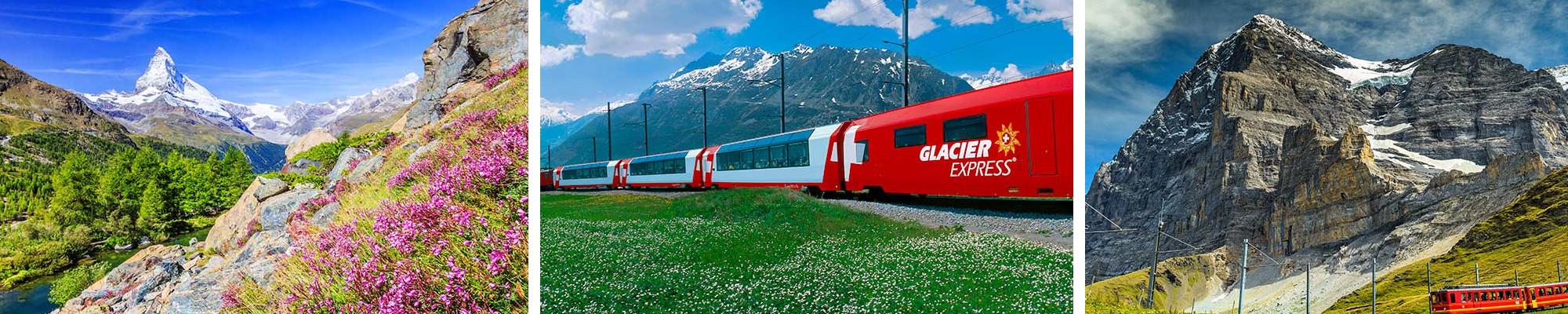 人気の氷河特急乗車つき!弾丸スイス3日間