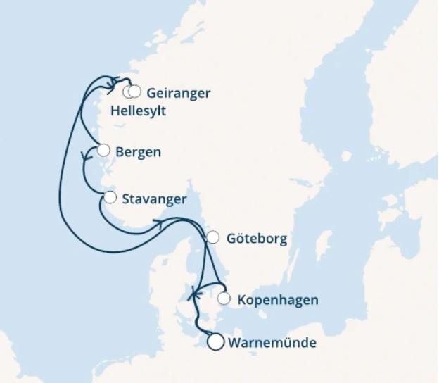 寄港予定地マップ